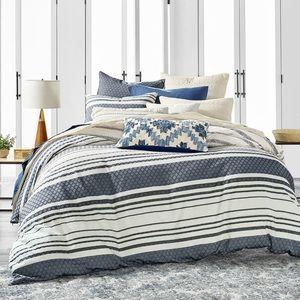 Lucky Brand 3 Piece Comforter Set Full/Queen Blue